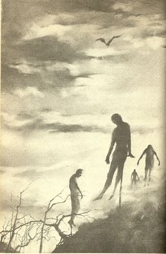 """scarystoriesiread: """" Stephen Gammell's Vampire Illustrations I'd just cracked open a copy of the Eerie Series' s Meet The Vampire and received a pleasant (for me, that is) surprise inside. A decade before Scary Stories to Tell in the Dark, Stephen. Vampire Illustration, Illustration Art, Art Illustrations, Science Fiction, Vlad The Impaler, Scary Stories To Tell, Creepy Stories, Dark Thoughts, Creepy Art"""
