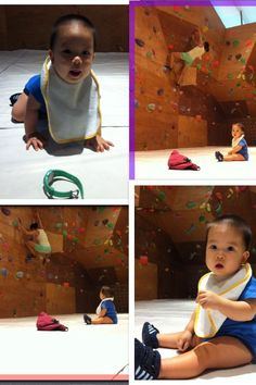 Baby day out @ Kinetics Climbing in Singapore