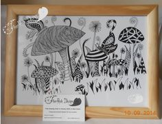 Items similar to Fairy Haven, Hand Drawn, Tangle Style picture on Etsy Rock Design, Fashion Pictures, Tangled, How To Draw Hands, Greeting Cards, Fairy, Nursery, Unique Jewelry, Hand Drawn