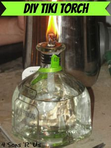 4 Sons 'R' Us: DIY Tiki Torch *Using citronella infused torch fuel I'm able to keep the mosquitoes at bay, all while adding a little 'enchantment' to my evenings. My still full wallet was feeling pretty enchanted too!*