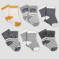 Great for any occasion Baby 6 pairs of soft cotton ankle socks with single turn over top.UK made using the finest combed cotton