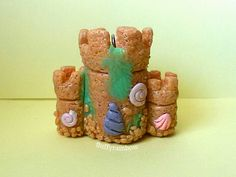 Polymer clay sandcastle