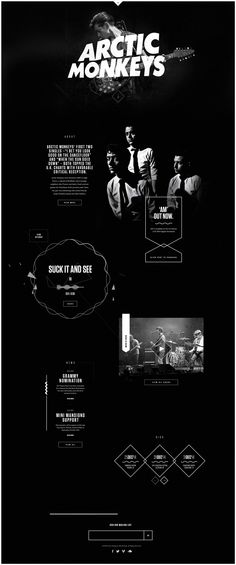 Arcticmonkeys.com Redesign on Behance