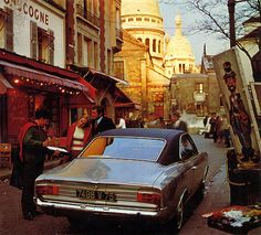 1968 Opel Commodore Coupé 1968 calender - Paris, Montmartre  The 1967-1970 Opel Commodore Coupe (and the Rekord Coupé of course) is in my book the most handsome Opel ever.  Runners up are the original Opel GT and the Opel Manta A. Opel could never achieve such an elegant and sporty design in later years again. American styling influence is obvious, and as far as I know this car was designed by an American, assigend from Detroit, and the car stands out of the crowd.