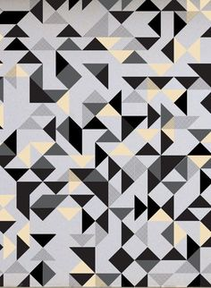 Bermondsey Square geometric wallpaper designed by Custhom