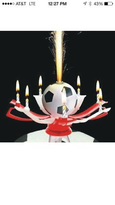 Beautiful Soccer Music Candle Birthday Party Decoration Candle - Cake Topper World Cup FIFA on Etsy, $10.00