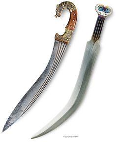 "An Iberian falcata, c 300 BC  An early iron-age ""Akinakes"" iron sword & celt-iberian ""Falchata""-sword with patinated surface"