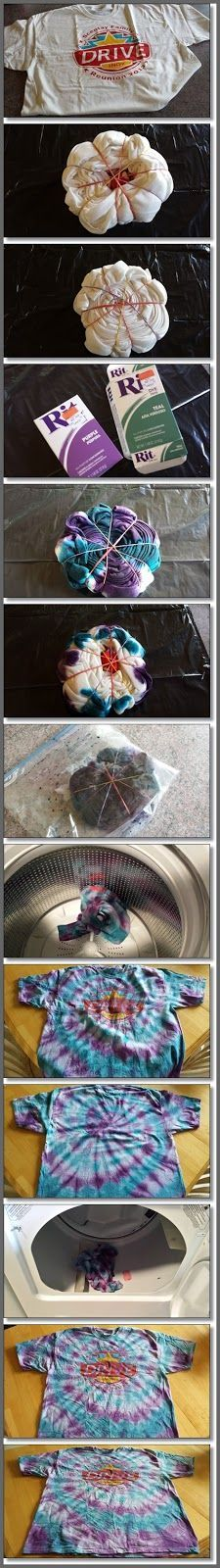 How to Tie Dye a Spiral Shirt in 9 steps!