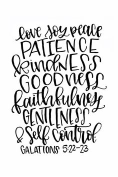 Fruit of the Spirit Printable - Love Joy Peace Patience Kindness Goodness Faithfulness Gentleness & Self Control - Galations 5:22-23 Print Etsy