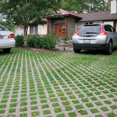 Set your driveway apart, give your home curb appeal and help the environment all at once with our Turnstone Environment Pavers. #landscapedriveway