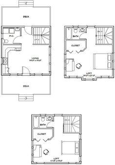 16x30 Tiny House 16X30H11 901 sq ft Excellent Floor Plans