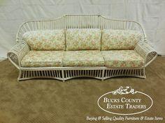 Ficks Reed Rattan Long Sofa #Traditional