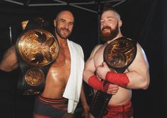 New! WWE Raw Tag Team Champions Cesaro and Sheamus