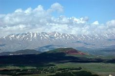Mount Hermon in the far northern corner of Israel...