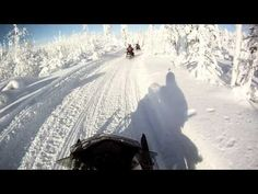 Snowmobiling in North Savo, Finland