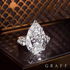 Perfect Elegance The elongated pear shape diamond is a favourite among the…