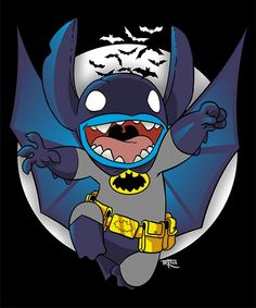 Stitch! As batman! Yeah.