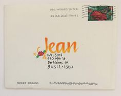 From Beth, Chuck and Jeri (July) (pushing the envelopes) Hand Lettering Envelopes, Calligraphy Envelope, Envelope Art, Handwritten Letters, Addressing Envelopes, Card Envelopes, Calligraphy Handwriting, Pen Pal Letters, Cute Letters