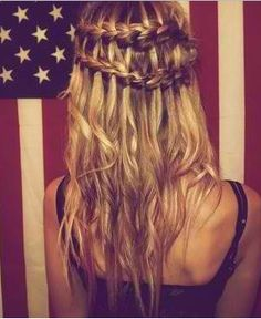 Waterfall braid. Cute, Long hair