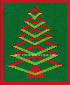 Christmas cards and projects from Extreme Cards: pop up cards, origami, twist top boxes, kirigami. Christmas Tree Paper Craft, Christmas Tree Template, Christmas Tree Cards, Xmas Cards, Handmade Christmas, Holiday Cards, Christmas Crafts, Greeting Cards, Beautiful Christmas Cards