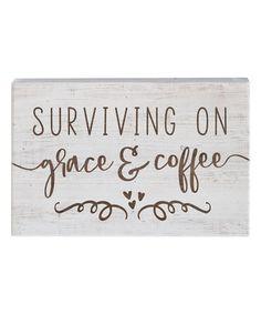 'Grace & Coffee' Wall Sign #zulily #zulilyfinds