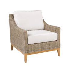 Kingsley Bate Milano Club Chair Wicker chairs Armchairs and Barrels