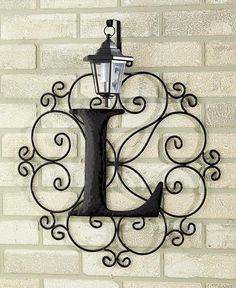 Outdoor Metal Monogram Letters Metal Monogram Solar Light Wall Lantern 12 Letters Patio Porch