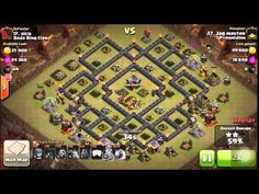 Clash Of Clans Strategy - Pyramidion vs Bada Bing Clan War - TH9 3 Star ...
