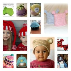 Raccolta di schemi gratis di cappellini a maglia e uncinetto. Free crochet and knit child hat patterns