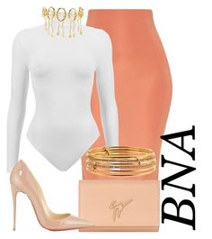 """BNA"" by deborahsauveur ❤ liked on Polyvore featuring Giuseppe Zanotti, Christian Louboutin, Kate Spade and Paula Mendoza"
