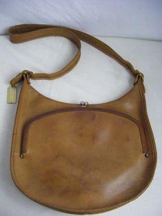 7b8ab4f51219 RARE COACH Vtg 60s British Tan Bonnie Cashin Leather Kiss Lock Shoulder Bag   Coach