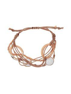 Βραχιόλι GREGIO με Κορδόνι και Ασήμι Αναφορά 023117 Βραχιόλι GREGIO για να χαρίσετε σε μια γυναίκα αποτελούμενο από συνθετικές λευκές πέτρες,μπίλιες από Ασήμι 925 σε ροζ χρώμα επάνω σε καφέ κορδόνι που αυξομειώνει. Bangles, Bracelets, Gold, Jewelry, Fashion, Moda, Jewlery, Jewerly, Fashion Styles