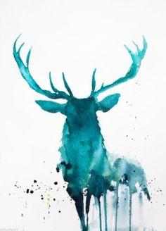 JEN BUCKLEY ART signed PRINT of my original STAG watercolour - Jen Buckley Art - 1