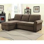 Fabric, Medium Brown, Sleeper, Sofa, Left-Chaise, by Pulaski