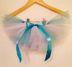 Tulle 'Frozen' Tutu Baby Newborn 0-3 Months Lilac White Glitter Turquoise by YoungSparkleandShine on Etsy https://www.etsy.com/listing/212343282/tulle-frozen-tutu-baby-newborn-0-3