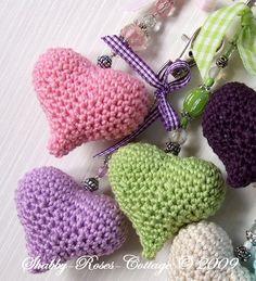 Crocheted Hearts by *ShabbyRosesCottage*, via Flickr