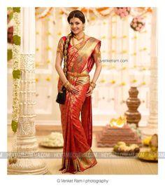 Have u seen me in a saree - Kajal Agarwal - Indian Bridal Sarees, Bridal Silk Saree, Indian Silk Sarees, Indian Bridal Fashion, Soft Silk Sarees, Saree Wedding, Wedding Bride, Lehenga Saree Design, Saree Blouse Designs