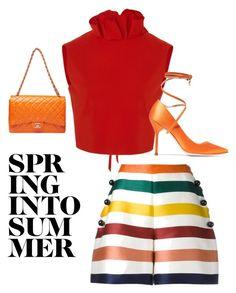 """Sporting Shorts Style!"" by artofclassyandfabulous on Polyvore featuring Carolina Herrera, SemSem and Vetements"
