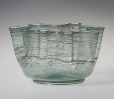 Late Imperial Roman blown, trailed and tooled glass bowl, 3rd–4th century A.D. Metropolitan Museum of Art, New York. Gift of J. Pierpont Morgan, 1917.