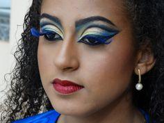 Make up feita para a musa da Unidos da Tijuca - Carnaval Rio 2014.