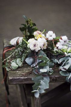 Winter and Christmas styled photo shoot. Rustic table setting and a story about a princess from children's book. Organic and natural, bouquets in boho style and animal details on cutlery.