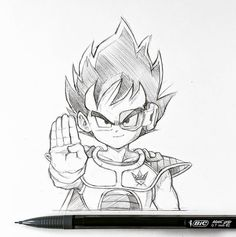 Prince Kid. New decal design for @kingsmustrise to go with the Goku one . It's been a minute. #coffeeketch #vegeta #pencil #drawing #dragonballz