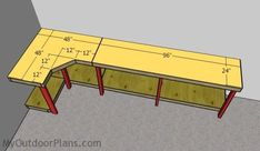 This step by step diy woodworking project is about corner garage workbench plans. This article features detailed instructions for building a sturdy corner workbench that is attached to the walls. Woodworking Workbench, Woodworking Workshop, Woodworking Projects Diy, Popular Woodworking, Woodworking Furniture, Woodworking Tools, Woodworking Techniques, Wood Projects, Youtube Woodworking