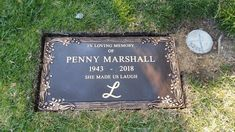 Penny Marshall - Find A Grave Memorial Cemetery Headstones, Old Cemeteries, Cemetery Art, Graveyards, Penny Marshall, Titanic Artifacts, Famous Tombstones, Famous Graves, Celebrity Deaths