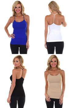 Y-Strap Basic Seamless Tanks from Closet Candy Boutique - #restock #basics