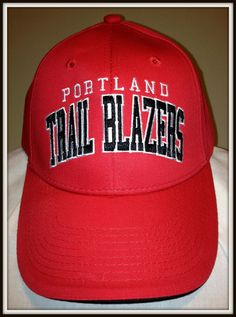 buy online 448a2 f1663 PORTLAND TRAIL BLAZERS NBA PROPERTIES ADULT ADJUSTABLE OSFA CAP HAT FREE  SHIP  nbaproperties  PortlandTrailBlazers