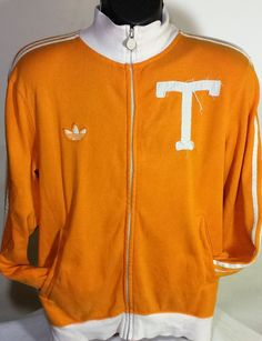 Retro Adidas Trefoil Tennessee Vols Mens Size Small Track Jacket #adidas #BasicJacket
