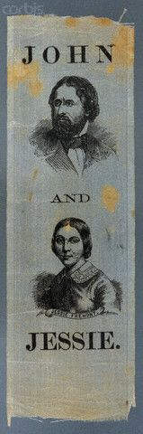 """John and Jessie"" Fremont 1856 Campaign Ribbon --- Image by © David J. Frent/David J. & Janice L. Frent Collection/Corbis"