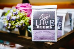 fun label (cheesy name) Plan My Wedding, Our Wedding Day, Wedding Stuff, Wedding Ideas, Wedding Reception Decorations, Wedding Favors, Coffee Favors, True Love, Wedding Designs
