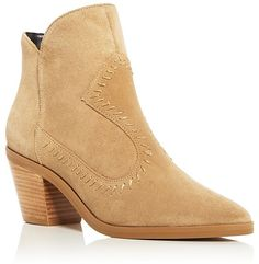 Designer Clothes, Shoes & Bags for Women Suede Cowboy Boots, Suede Booties, Western Boots, Ankle Booties, Golden Shoes, Shoe Brands, Shoe Collection, Block Heels, Rebecca Minkoff